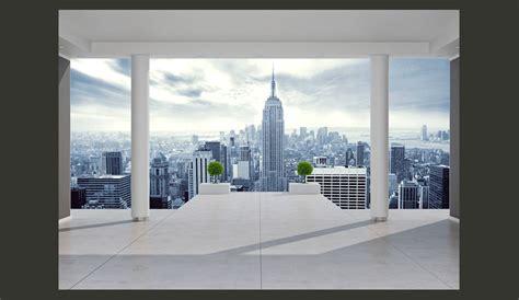 1 Wall Mural fototapeta 3d widok na miasto new york