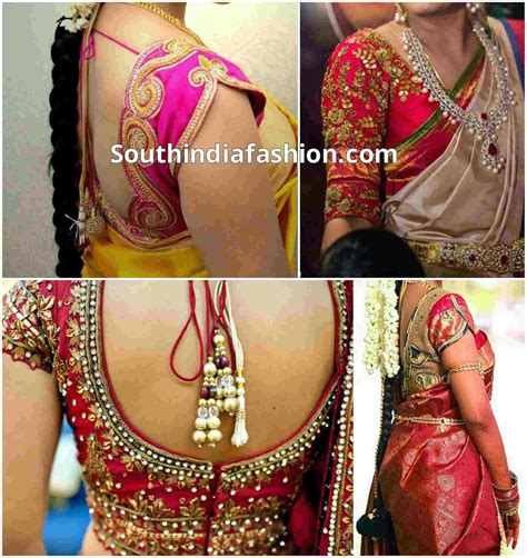 blouse neck designs for wedding saree blouse designs for wedding sarees south india fashion