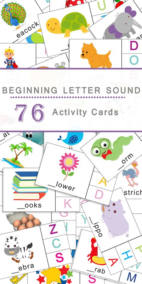 Printable Beginning Sound Picture Cards