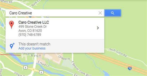 how do i add my business to maps caro creative