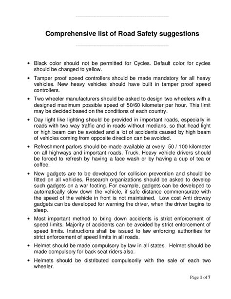 Importance Of Road Safety In India Essay by Essay On Road Safety