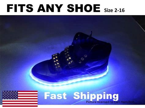 light up shoes mens size 12 light up quot your quot shoes kit fits mens or womens nike size 7
