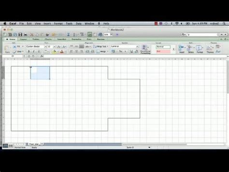 how to make a floor plan for a house how to make a floorplan in excel microsoft excel tips youtube