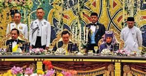 Aturcara Majlis Perkahwinan Di Raja Brunei 2015   monarki raja perkahwinan diraja brunei 2015 majlis