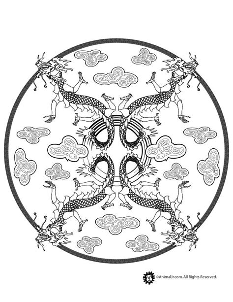 chinese mandala coloring pages 287 best images about chinese new year on pinterest
