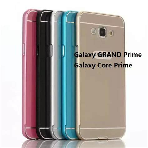 Samsung Galaxy Grand Prime Metal Bumper With Doff Back Cover Unik for galaxy grand prime g530 aluminum bumper back cover