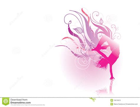 pink silhouette dancer stock photos image 19575913