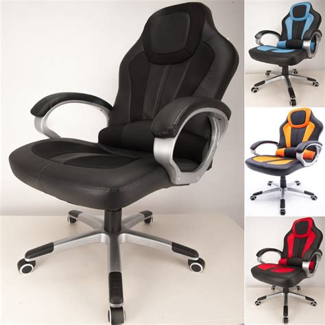 padded cing chair folding raygar deluxe padded sports racing gaming office chair