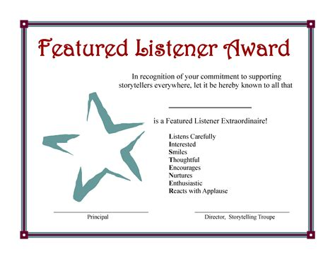 net listener pattern toastmasters award certificate template images