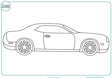 imagenes para dibujar un carro coche deportivo para colorear mundo primaria