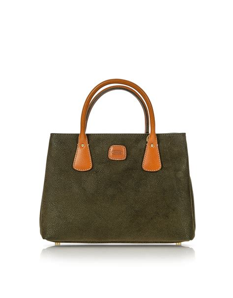 Olive Bag by Lyst Bric S Olive Green Small Micro Suede Tote Bag