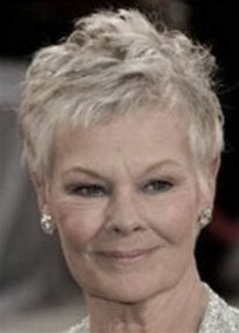 Judi Dench Hairstyle Front And Back Of Head