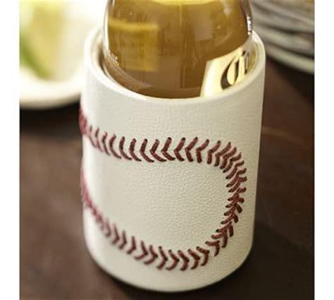 Pottery Barn Baseball L by Baseball Leather Bottle Cooler Pottery Barn