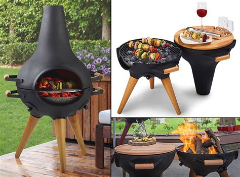 chiminea with cooking grill aniva cosa bbq transforming chiminea grill pit