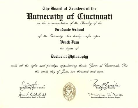 Of Cincinnati Mba Curriculum by Degree Certificate Degree Certificates Welcome