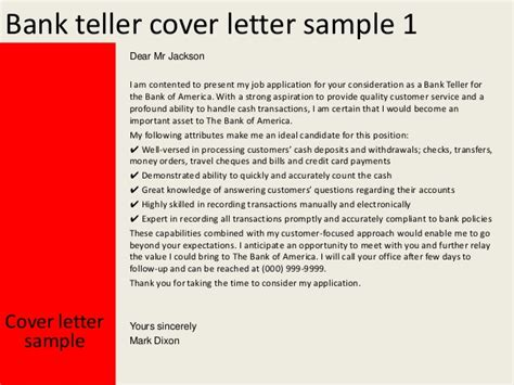 cover letter for bank teller free job cv exle
