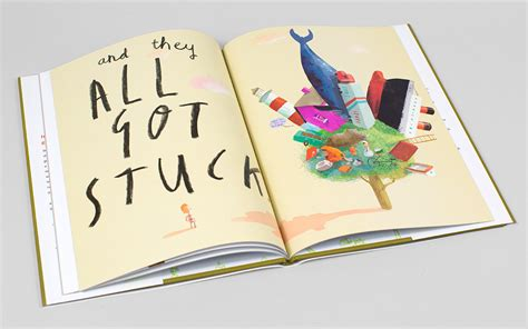 stuck picture book stuck by oliver jeffers picture book typography and