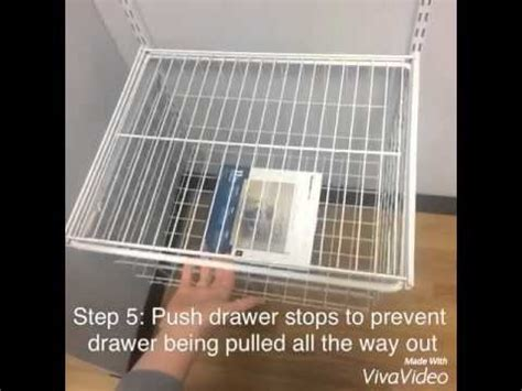 closetmaid youtube how to add closetmaid shelftrack drawers youtube