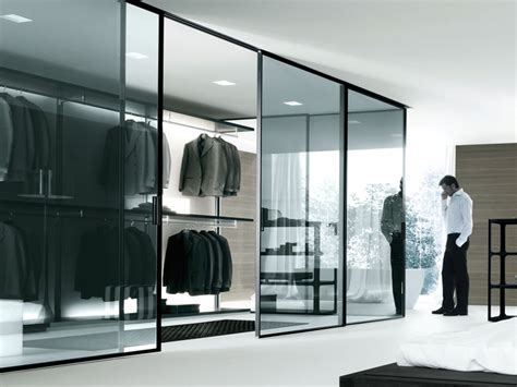 closet contemporary bedroom design glass door walk in closet black black closet ceramic floor