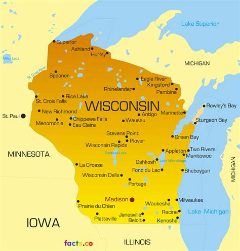 a map of wisconsin wisconsin map blank political wisconsin map with cities
