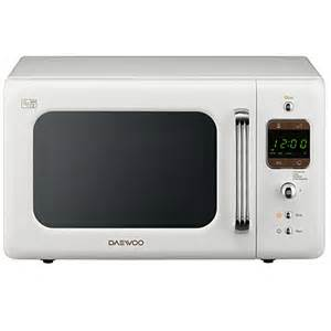 Daewoo Retro Microwave Daewoo Kor7lbkw Retro 20l Digital White Microwave