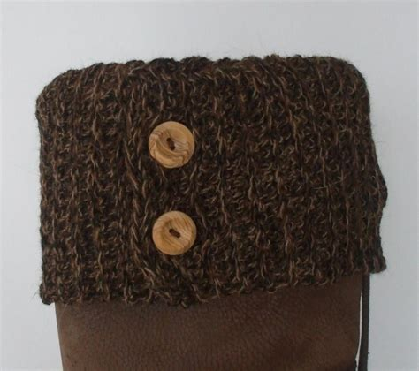 knit cuffs you to see button boot topper boot cuff by rainedancer