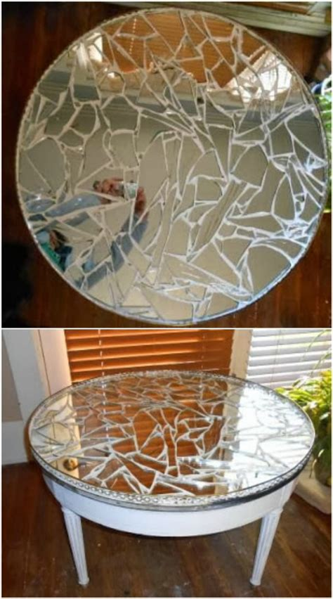 repurposed table top ideas 20 brilliantly crafty diy ideas to upcycle broken mirrors