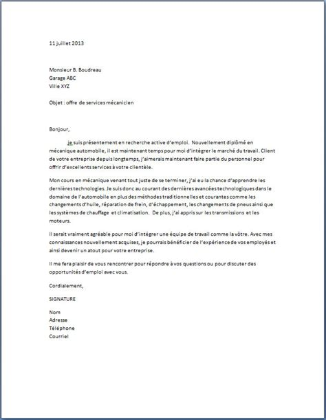 Lettre De Motivation Banque Marketing Modele Lettre De Motivation Mecanicien Automobile Document