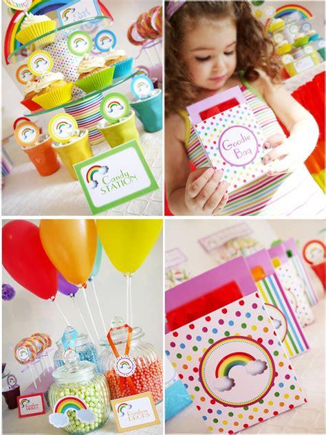 Rainbow Birthday Decorations by The Rainbow Birthday Pizzazzerie