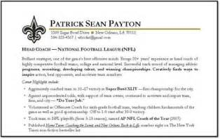 take a look at the below given sle of football coach