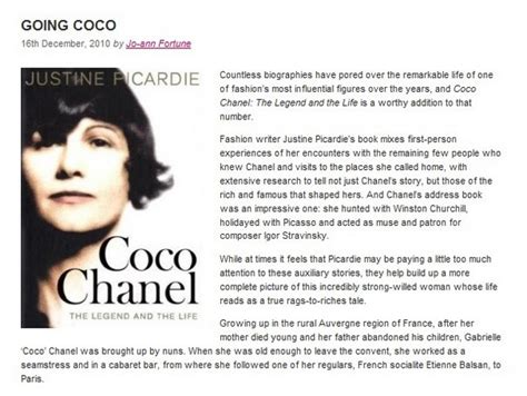 coco chanel biography book review chiconthecheap coco chanel the legend and the life review