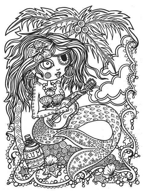 Mermaid Coloring Pages For Adults by 285 Best Mermaid Coloring Pages For Adults Images On