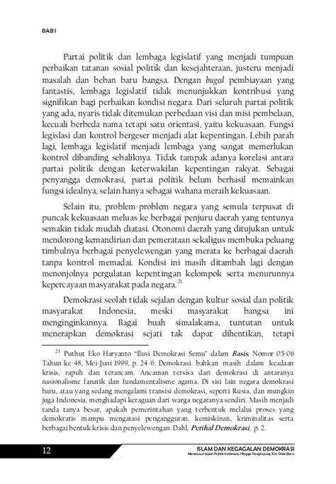 Kebohongan Demokrasi Oleh Paul Treanor islam dan kegagalan demokrasi menelusuri jejak politik indonesia hin