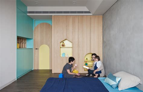 house of bedroom kids colorful modern apartment for a family with small children