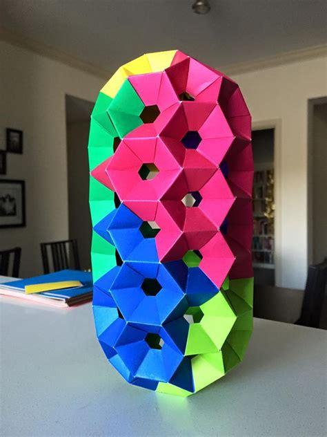 Modular Origami Units - modular origami nanotube i made with honeycomb units with