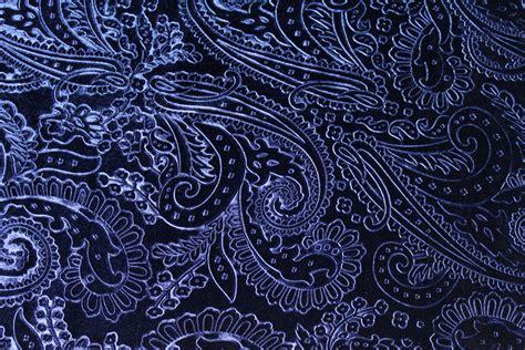 blue pattern velvet blue paisley velvet plush fabric textile from kbazaar on