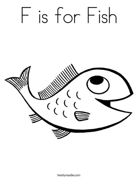F Is For Fish Coloring Page f is for fish coloring page twisty noodle