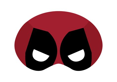 deadpool mask template deadpool printable mask by drearts on etsy