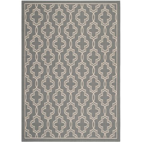 martha stewart rugs home depot safavieh martha stewart anthracite beige 5 ft 3 in x 7 ft 7 in indoor outdoor area rug