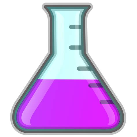 onlinelabels clip art lab icon erlenmeyer flask purple