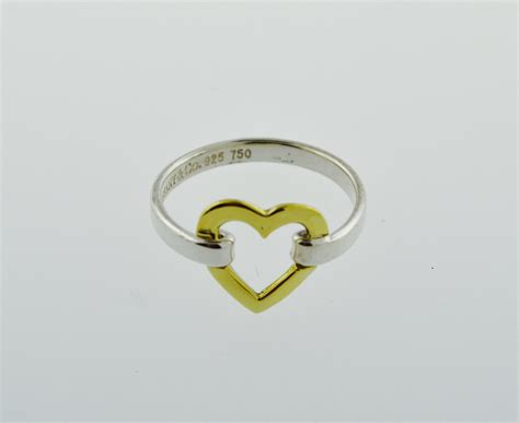 co sterling silver 18k gold open ring