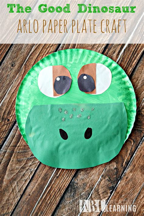 the craft project the dinosaur arlo paper plate craft abc creative