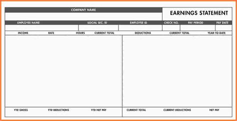 7 free blank pay stub template sles of paystubs