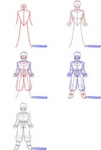 z drawing how to draw gohan
