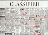 washington post jobs section classified ads data model