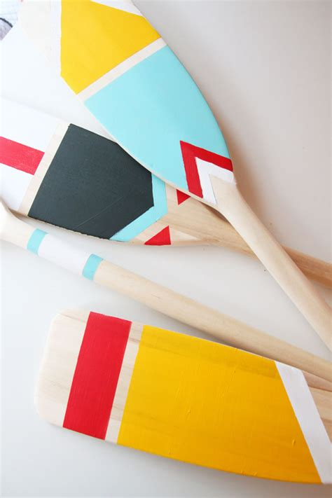boat oars do it yourself diy painted canoe paddles do it your self