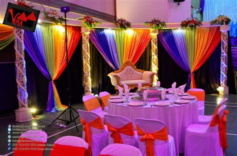 rainbow color concept wedding dinner decoration  srjk