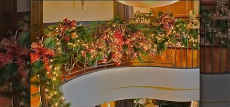how to decorate banister with garland how to decorate your staircase with a golden splendor christmas garland 171 christmas ideas