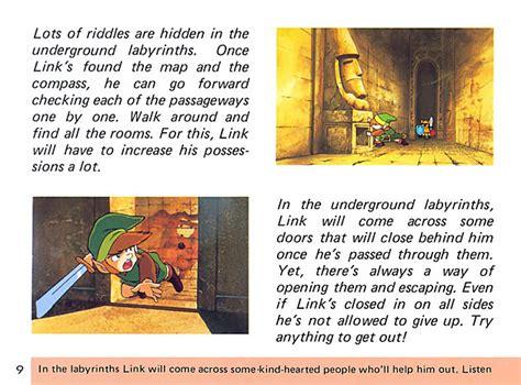 legend of zelda manual map nintendo puts 30 classic nes game instruction manuals online