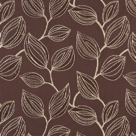 contemporary drapery fabric a0029a brown white large leaves contemporary upholstery